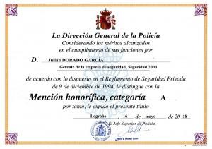 Diploma Julian Dorado