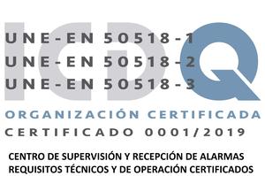 CERTIFICACION UNE-EN 50518
