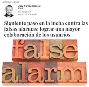 Falsas alarmas. Artículo de opinión